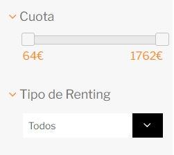 Cuota y tipo renting